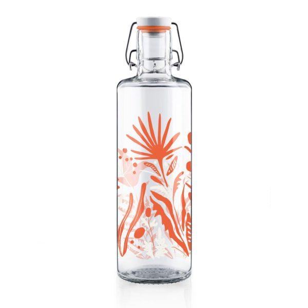 Glastrinkflasche Wildblume - 1,0l