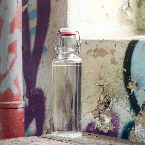 Glastrinkflasche Einfach nur Wasser