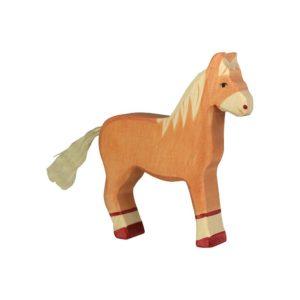 Pferd stehend – hellbraun