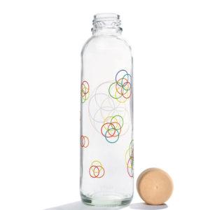 Glastrinkflasche Flower Elements - 0,7 l 2
