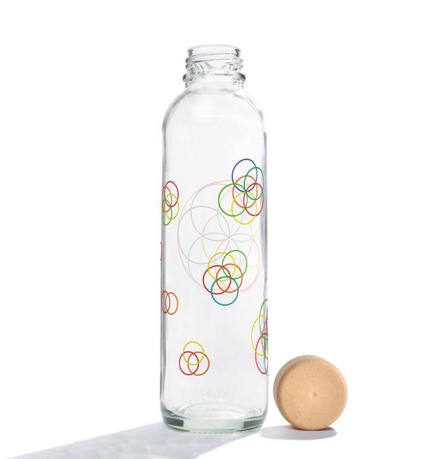 Glastrinkflasche Flower Elements - 0,7 l 1