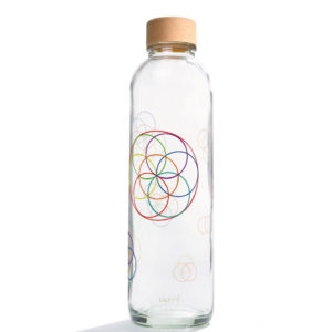 Glastrinkflasche Flower Elements - 0,7 l