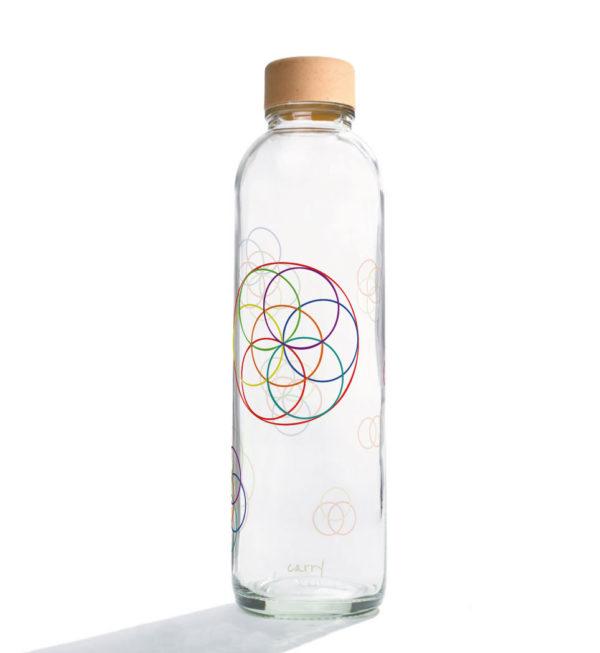 Glastrinkflasche Flower Elements - 0,7 l