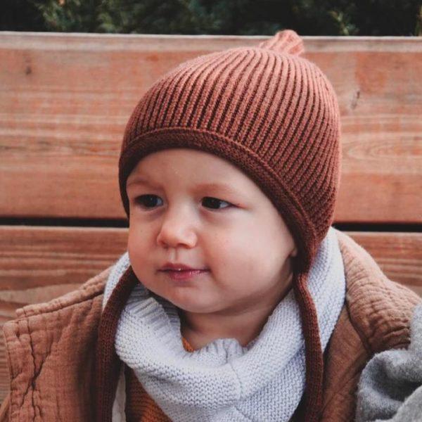 Kindermütze Pinni cinnamon - Größe M 2-5 Jahre 2
