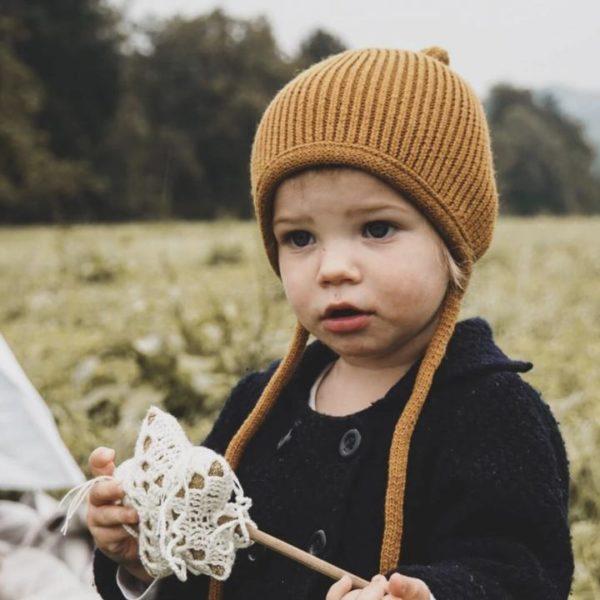 Kindermütze Pinni mustard - Größe S 4-24 Monate 2