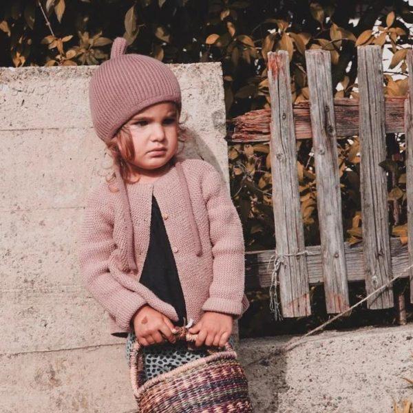 Kindermütze Pinni dusty rose - Größe S 4-24 Monate 3