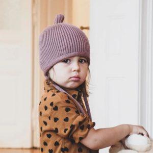 Kindermütze Pinni dusty rose - Größe S 4-24 Monate 4
