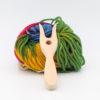 Strickgabel mit Wolle