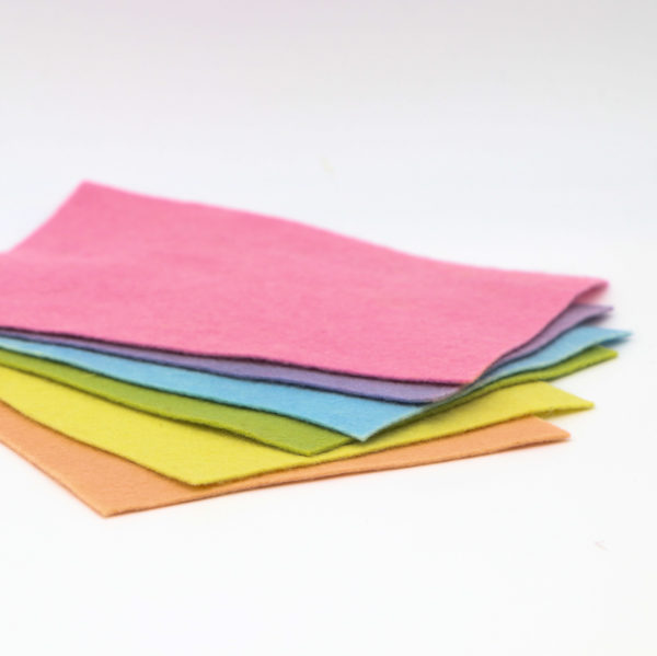 Bastelfilz – 6 Pastellfarben