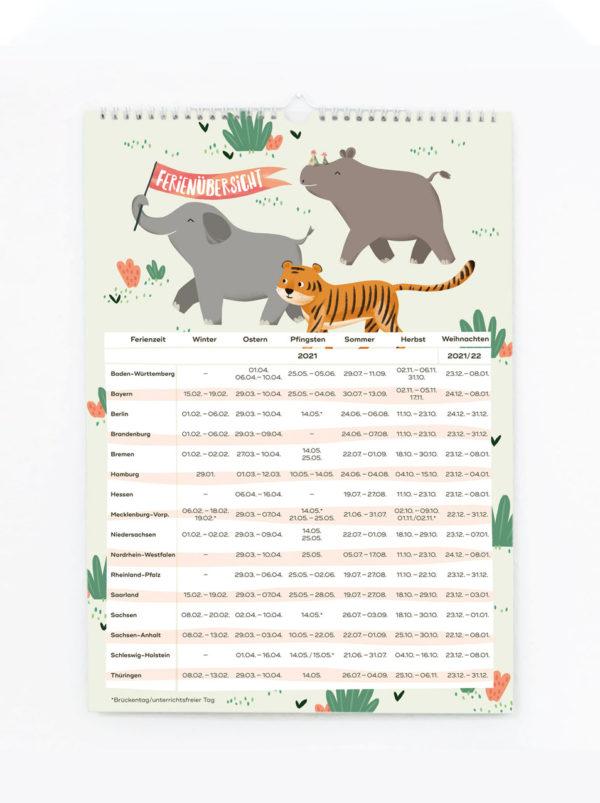 Familienkalender 2021 – DIN A3 8