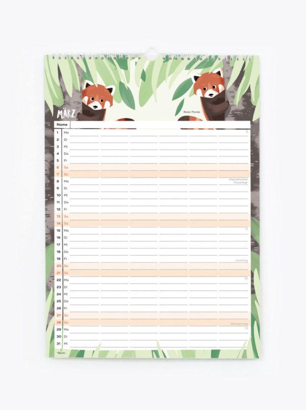 Familienkalender 2021 – DIN A3 6