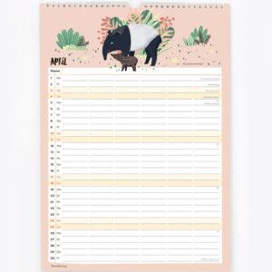 Familienkalender 2021 – DIN A3 12