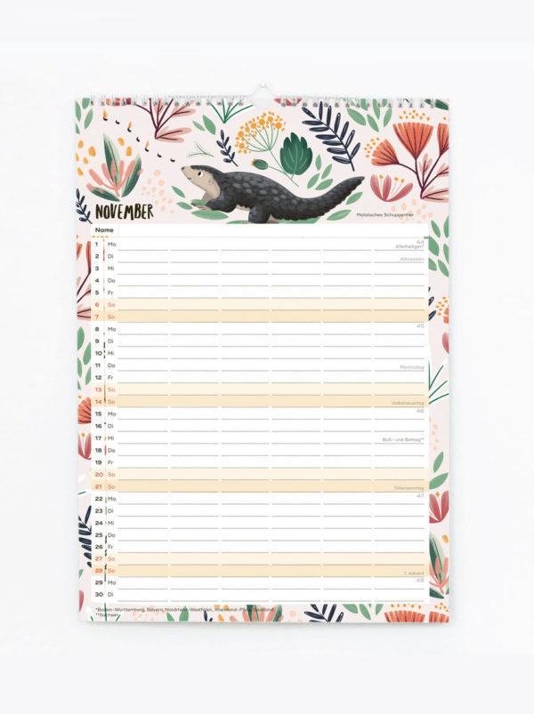 Familienkalender 2021 – DIN A3 3