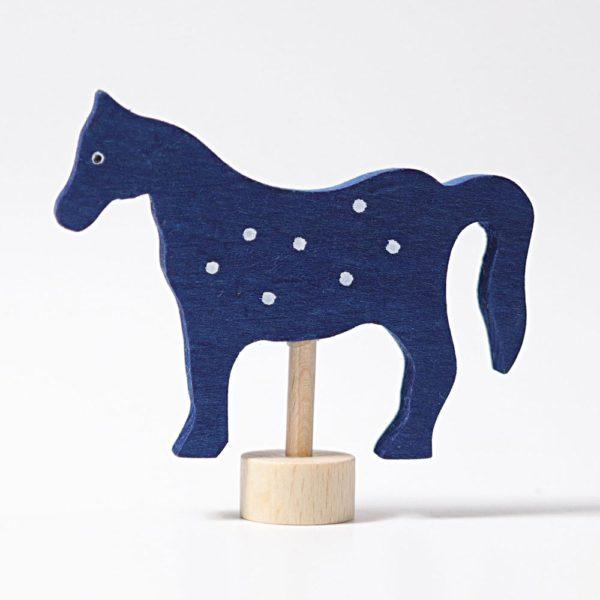 Steckfigur blaues Pferd von Grimm's