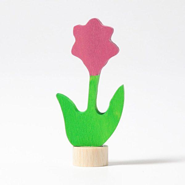 Steckfigur rosa Blume von Grimm's