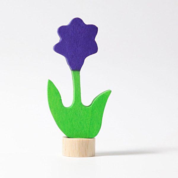 Steckfigur lila Blume von Grimm's