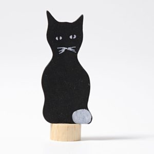 Steckfigur schwarze Katze von Grimm's