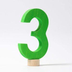 Zahlenstecker 3 von Grimm's
