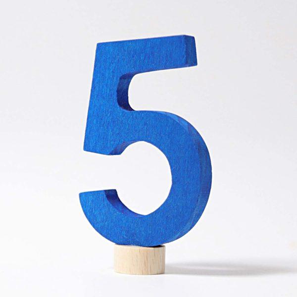 Zahlenstecker 5 von Grimm's