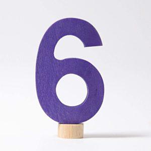 Zahlenstecker 6 von Grimm's