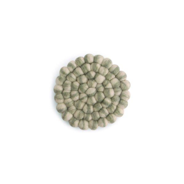 Untersetzer Filz rund – 2er Set grün