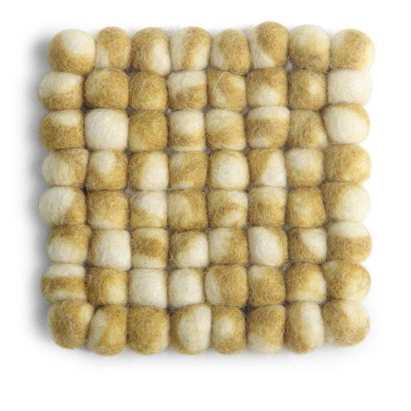 Untersetzer Filz quadratisch – gelb