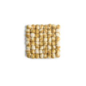 Untersetzer Filz quadratisch – 2er Set gelb
