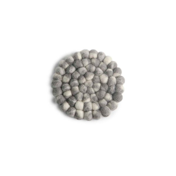 Untersetzer Filz rund – 2er Set grau