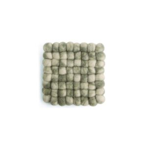 Untersetzer Filz quadratisch – 2er Set grün