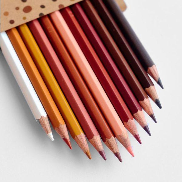 Buntstifte Hautfarben – 12 Farben