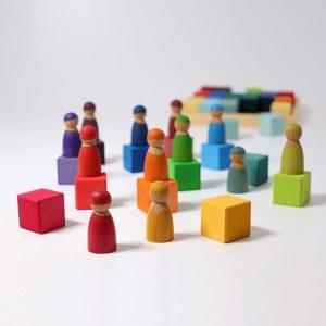 Mosaik Regenbogen mit Regenbogenfreunden von Grimm's