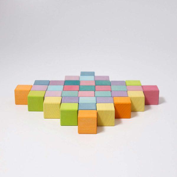 Bauspiel Mosaik pastell von Grimm's