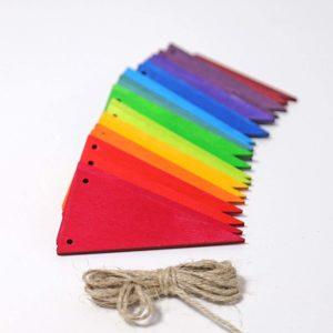 Wimpelkette Regenbogen von Grimm's