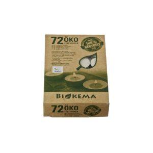 Öko-Teelicht ohne Hülle – 72 Stück