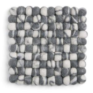 Untersetzer Filz quadratisch – grau