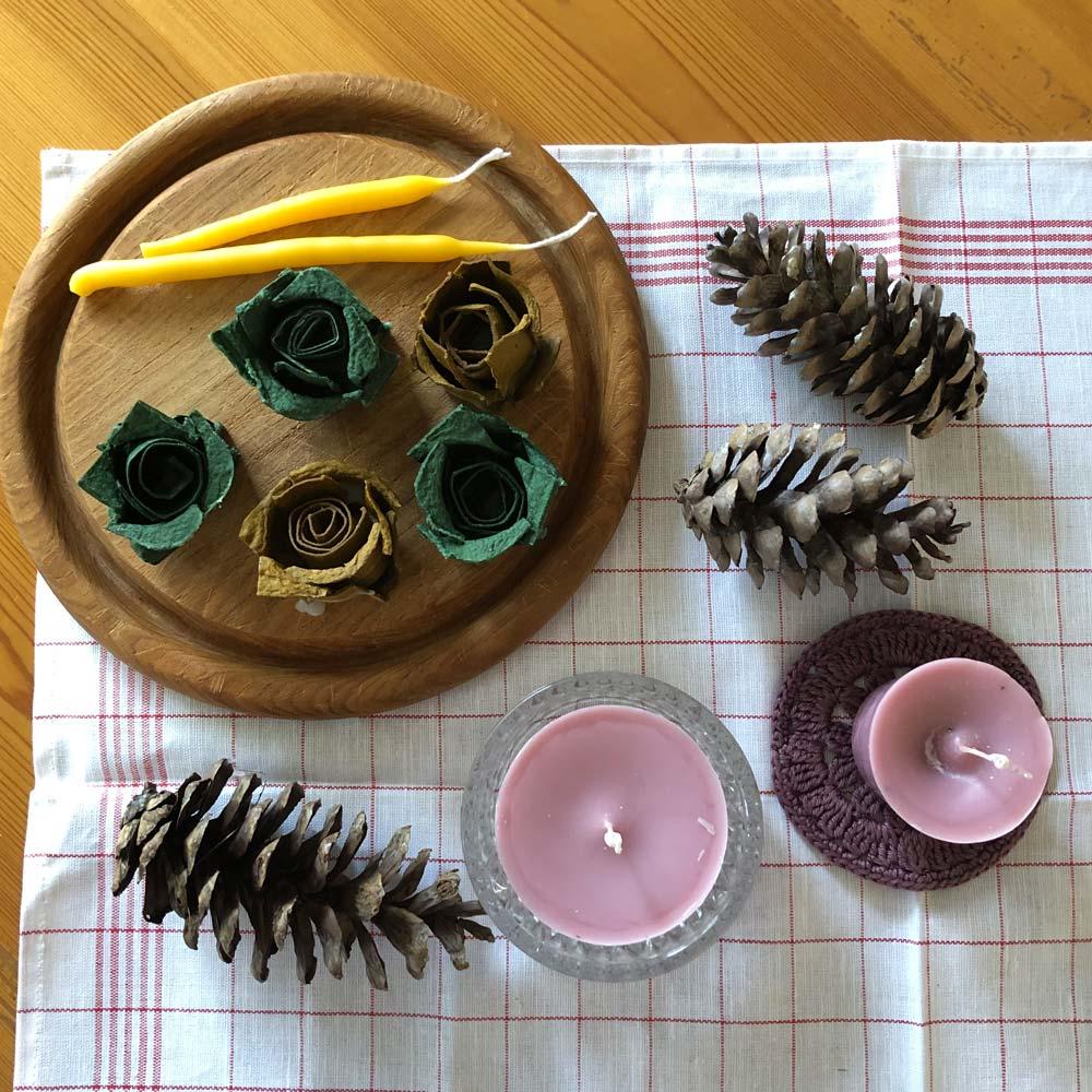 Kerzen selbst ziehen und gießen – Wir recyceln Kerzenreste und stellen natürliche Anzünder her 11