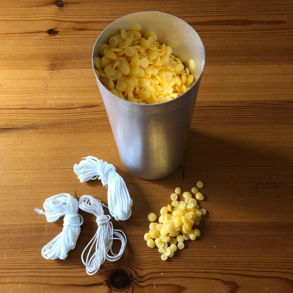 Kerzen selbst ziehen und gießen – Wir recyceln Kerzenreste und stellen natürliche Anzünder her 2