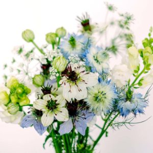 Geschenkkarton Wildblumen Bouquet – Nigella