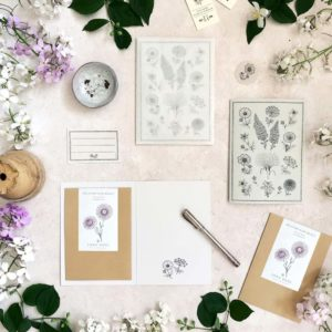 Grußkarte mit Samentütchen