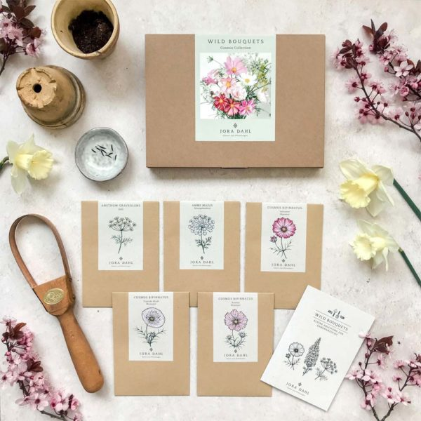 Geschenkkarton Wildblumen Bouquet – Cosmos