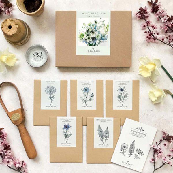 Geschenkkarton Wildblumen Bouquet – Nigella 1