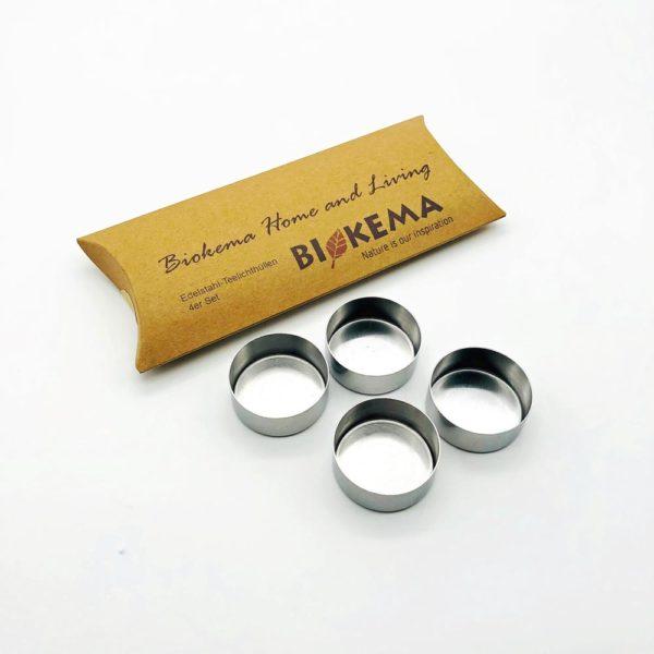 Teelichthüllen aus Metall – 4er-Set