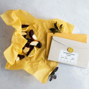 Bienenwachstücher gelb – Gr. L – Apfelstücke