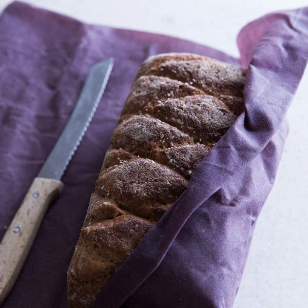 Bienenwachstücher lila – Gr. L – Brot
