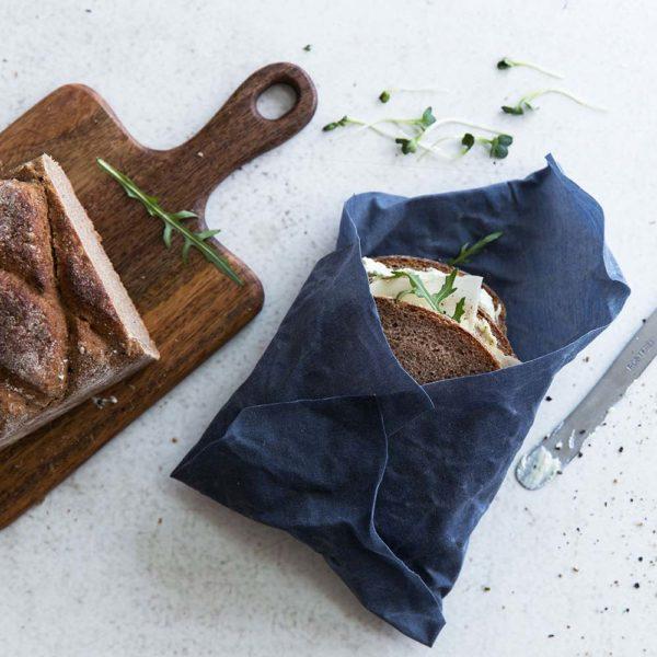 Bienenwachstücher blau – Gr. M – Sandwich