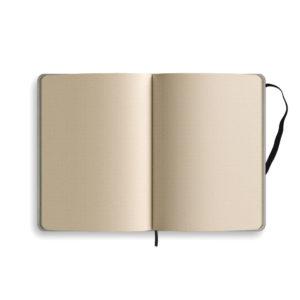 Notizbuch punktiert von innen