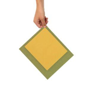 Bienenwachstücher gelb/grün – 2er Set Gr. S, M