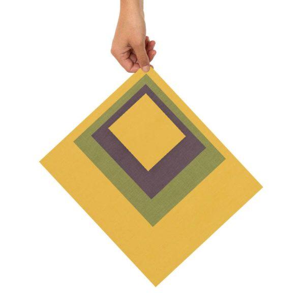 Bienenwachstücher gelb/grün/lila 4er Set – XS, S, M, L