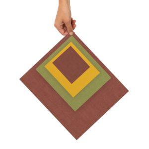 Bienenwachstücher rot/grün/gelb 4er Set – XS, S, M, L