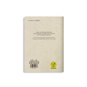 Notizbuch Tara Orange – Rückseite